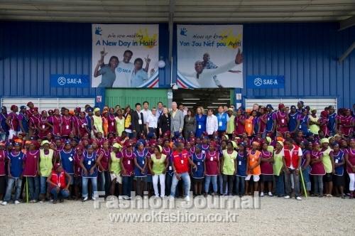 세아상역 아이티 의류공장-준공식에 클린턴 전 미국 대통령 부부가 참석했다